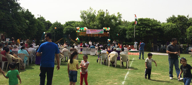 Independence Day Celebration at Sanskriti Apartments Central Park